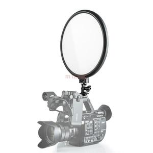 Image 5 - 500 T 25 W mince bi couleur Dimmable LED anneau vidéo Flash lumière pour Canon nikon pentax caméra prise de vue YouTube vidéo spectacle en direct
