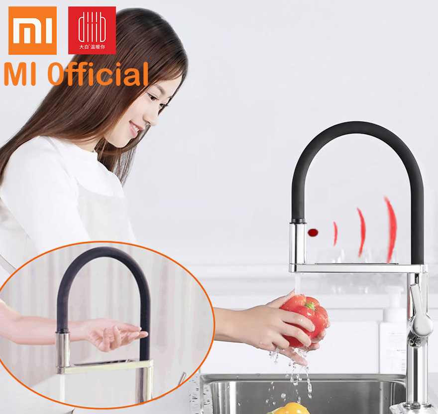 xiaomi Electric Kitchen Faucets Basin Automatic hot cold water Double switch Hands Touchless Free tap 360
