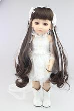 18 pulgadas de alta calidad SD/BJD muñecas bjd en venta hecha a mano de vinilo articulado muñecas poseable bonecas brinquedos regalo de las muchachas
