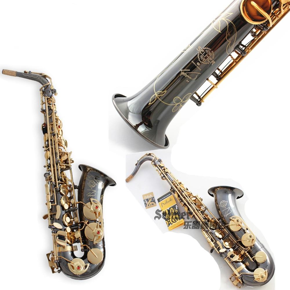 Франция Salmer саксофон R54 сопрано тенор-саксофон B альт-быть Saxofone профессиональные музыкальные инструменты черный Никель золото