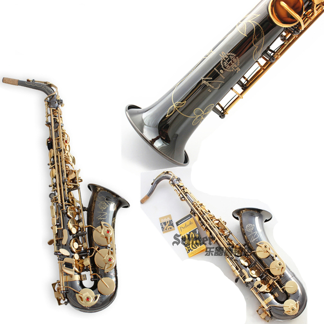 France Salmer Saxophone R54 Soprano Tenor Sax B Flat Alto bE Saxofone Professional Musical Instruments Black Nickel Gold