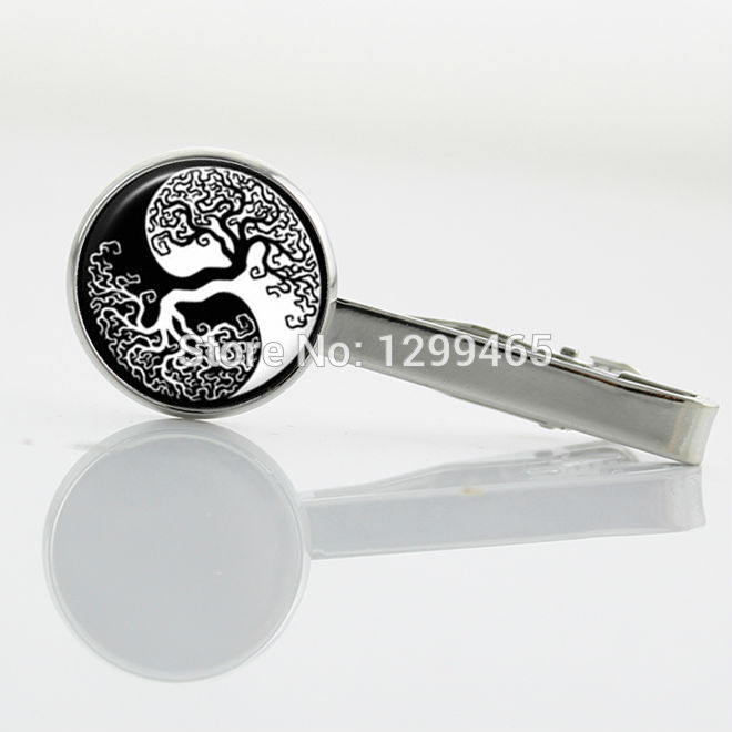 Present for Father Day tree of life Tie Clips yin yang tree picture tie tacks Decoration exquisite Necktie Tie Clips T 445