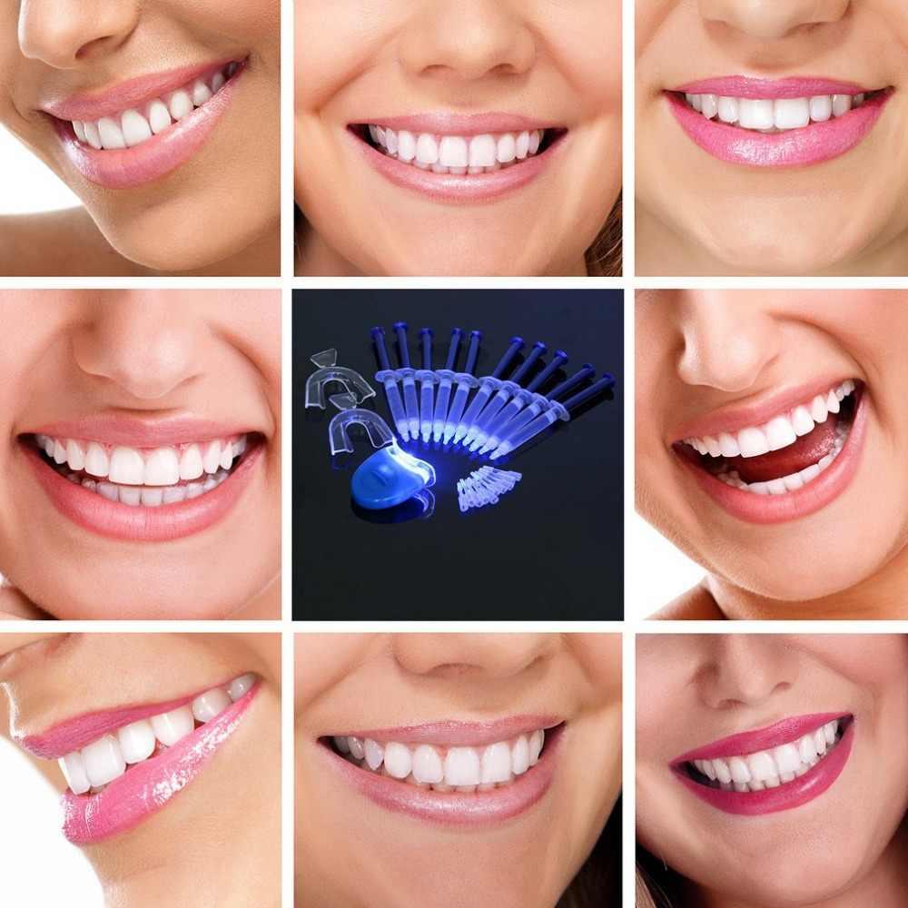 Новые 10 шт. портативные стоматологические аксессуары зубной отбеливающий гель системы 44% пероксид система для отбеливания зубов Оральный гель комплект отбеливатель зубов
