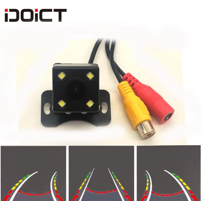 IDOICT водонепроницаемый HD 170 градусов угол sony/MCCD 4LED динамическая траектория парковочная линия Автомобильная камера заднего вида