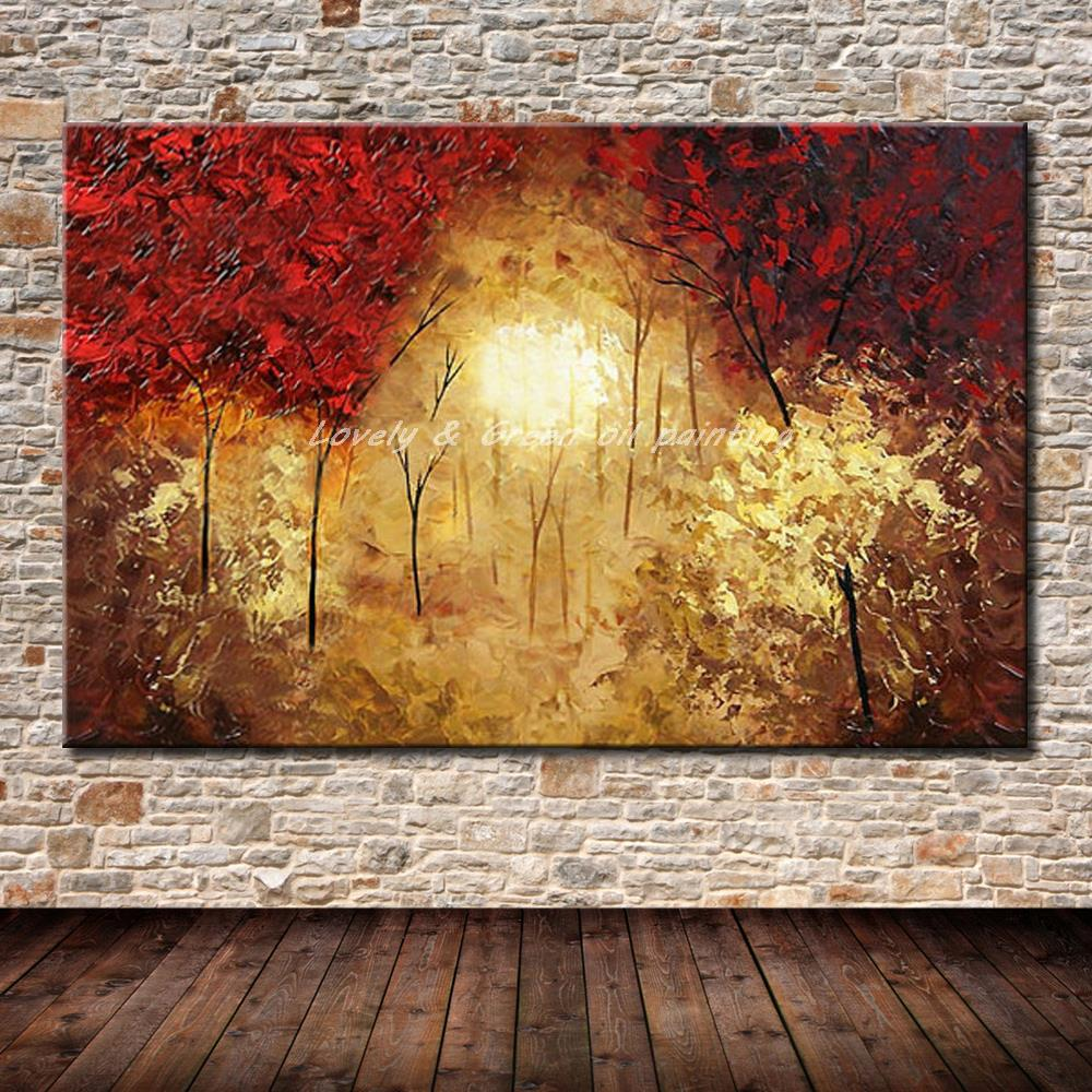 100% Hand Painted Modern Abstract Landscape Tree Oil Painting On Canvas Wall Art For Living Room Home Decoration Picture Gift100% Hand Painted Modern Abstract Landscape Tree Oil Painting On Canvas Wall Art For Living Room Home Decoration Picture Gift