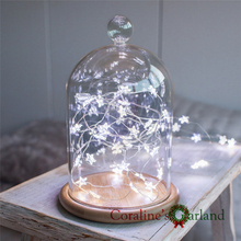 30 Pcs Star Micro Wire Lights String with battery operated fairy lights for festival holiday party wedding decoration garlands