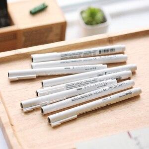 Image 3 - 8 adet/grup Marvy sanat işaretleyici çizim ve fırça kroki astar pigment karikatür jel kalem Anime araçları kırtasiye okul kaynağı 6861