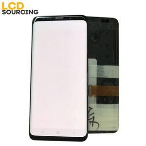 Image 2 - AMOLED Red Burn Shadow For Samsung Galaxy S9 LCD Display G960f S9 PLUS Display G965 Touch Screen Digitizer Assembly Replacement