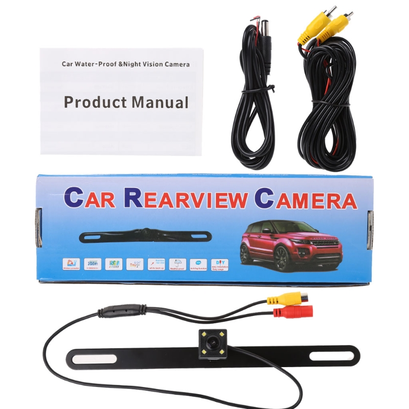 Car Rear Reverse License Plate Parking Rearview Backup Camera Universal-in Vehicle Camera from Automobiles & Motorcycles
