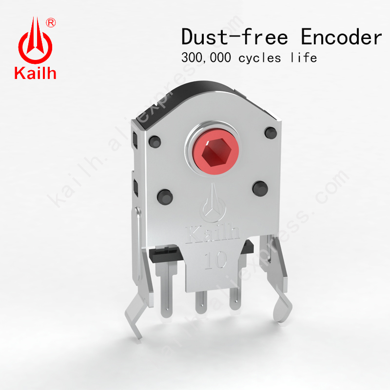 Kailh 9/10/11/12mm Rotary Mouse Scroll Wheel Encoder with 1.74 mm hole mark,15-30 g force for PC Mouse alps encoder dust-free(China)