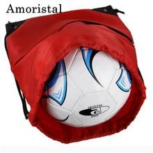 Unisex Drawstring Bag High Quality Polyester Women String Sack Beach Backpack Male Folding Shopping Bag Men Football Bags B214