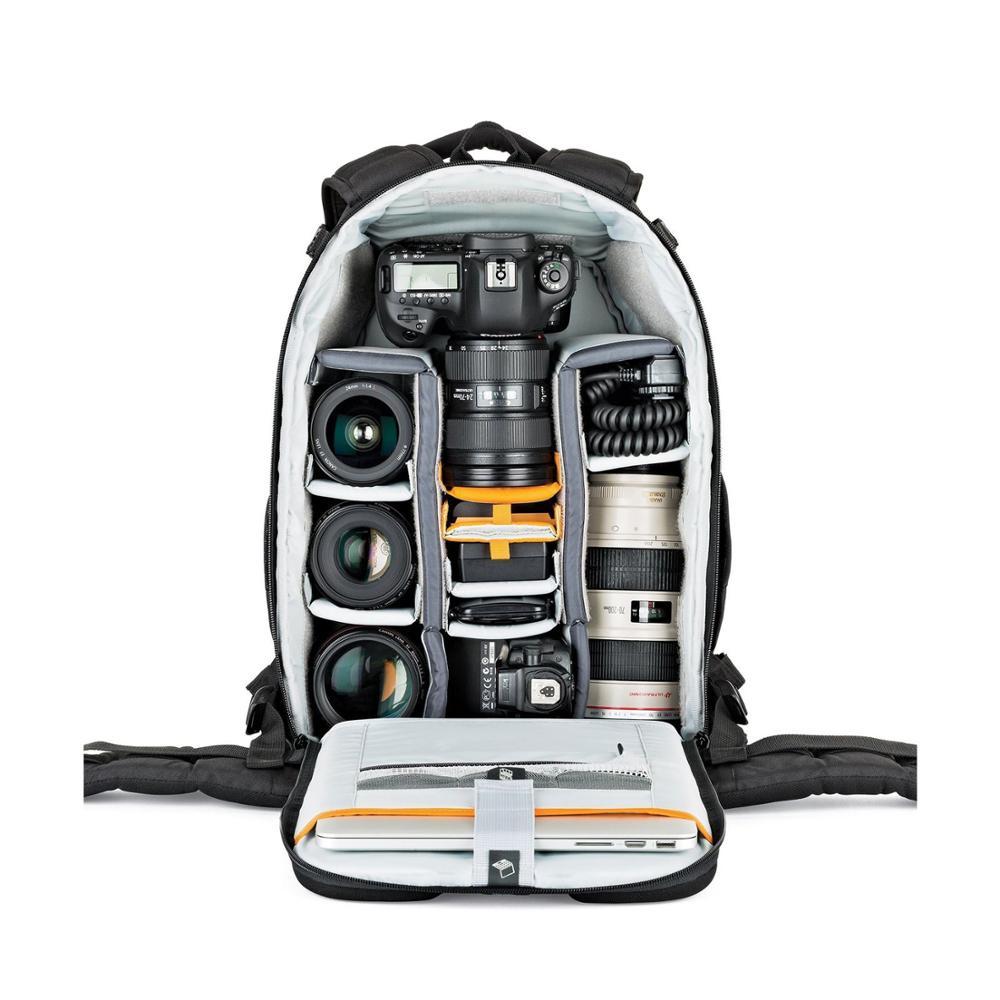 Image 2 - Fastshipping Новинка lovepro флипсайд 400 AW II цифровая фотокамера DSLR/SLR объектив/Вспышка рюкзак сумка + дождевик-in Сумки для фото-/видеокамеры from Бытовая электроника