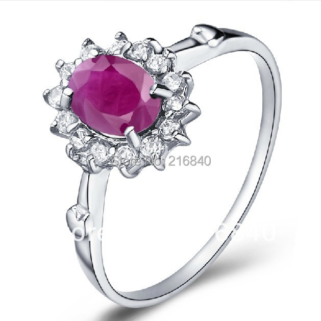 Natural Pink Ruby Ring Fancy Sapphire 925 Sterling silver Woman Fashion Fine Elegant Jew ...