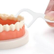 34b8ce7c5 80 pcs Fio Dental Interdental Escova Limpa Os Dentes Vara Palitos Floss  Pick Floss Dente Limpeza