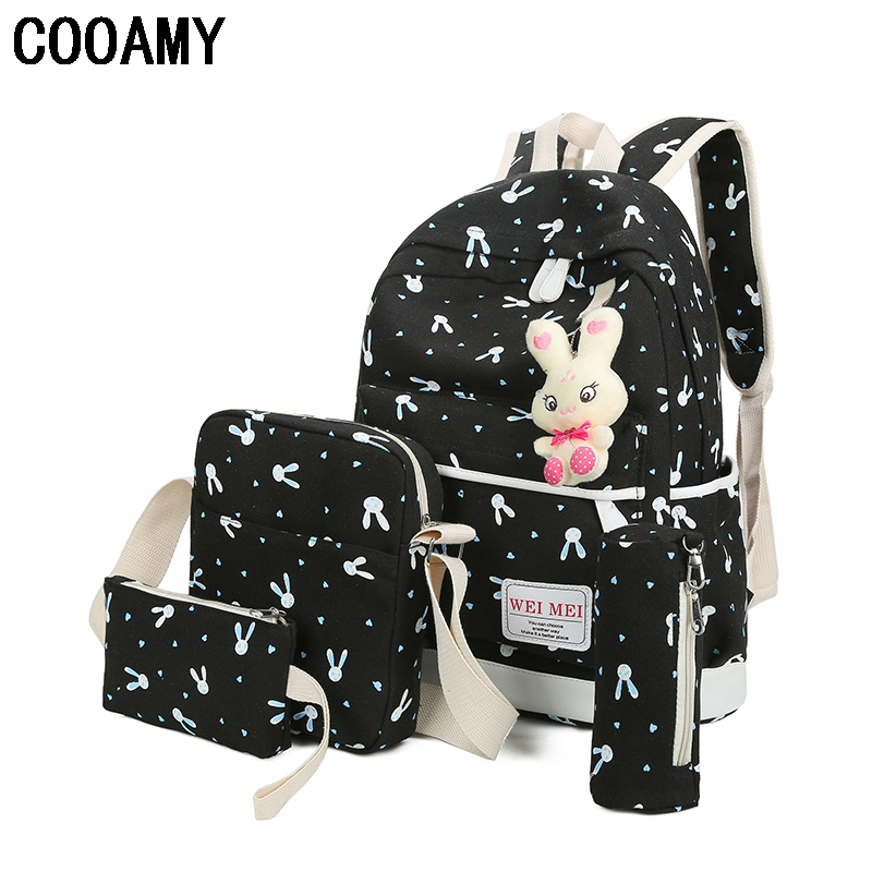 Women Canvas Backpack Schoolbags For Girl Teenagers Casual Travel School Bags Rucksack Cute Printing Children Shoulder Bags roblox game casual backpack for teenagers kids boys children student school bags travel shoulder bag unisex laptop bags