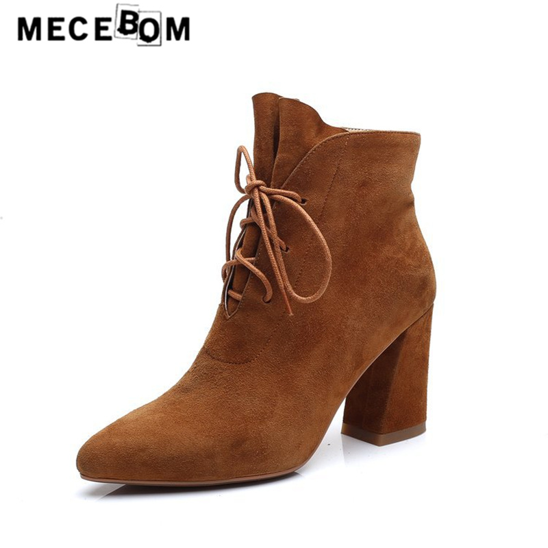 Women boots new arrival flock upper high heel ankle boots lady sexy pump shoes pointed toe sapato feminino size 34-39 a03w lady claussure peal plus size 4 14 zip cover heel buckle strap flock sapato feminino sandalias low heels beach shoes flip flops