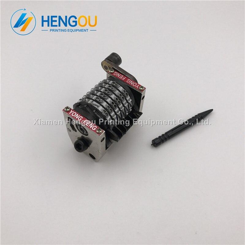 2 Pieces Free Shipping 6 Digits Numbering Machine Horizontal Backward Jump Mode 098765 Hengoucn GTO Machine