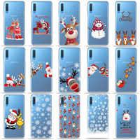 Nouvel an Noël Mignon Père Noël Elk bonhomme de neige Téléphone étui pour samsung A50 A70 S10 S8 S9 Plus S7 A6 A9 A7 2018 TPU coque en silicone