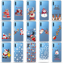 New year Christmas Cute Santa Claus Elk snowman Phone Case For Samsung A50 A70 S10 S8 S9 Plus S7 A6 A9 A7 2018 TPU Silicone case