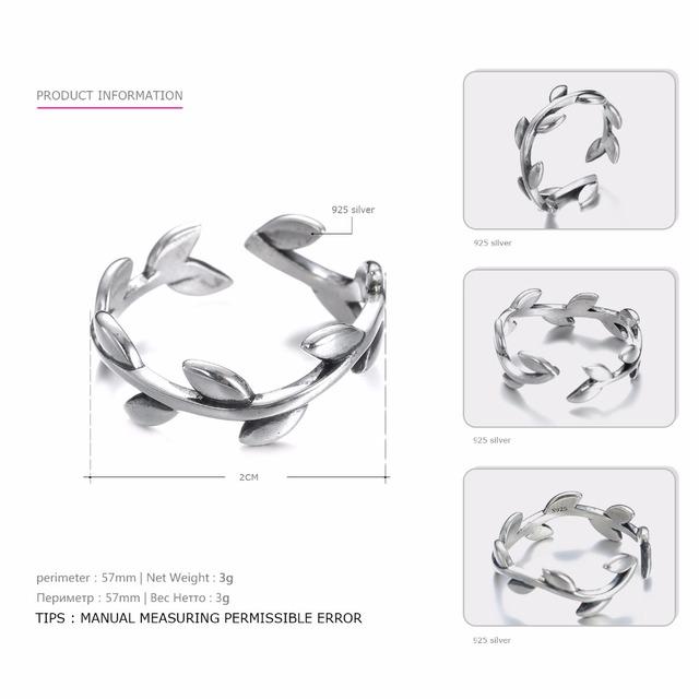 Anillo de plata 925 anillo abierto – joyeria de moda- NoSinMisJoyas