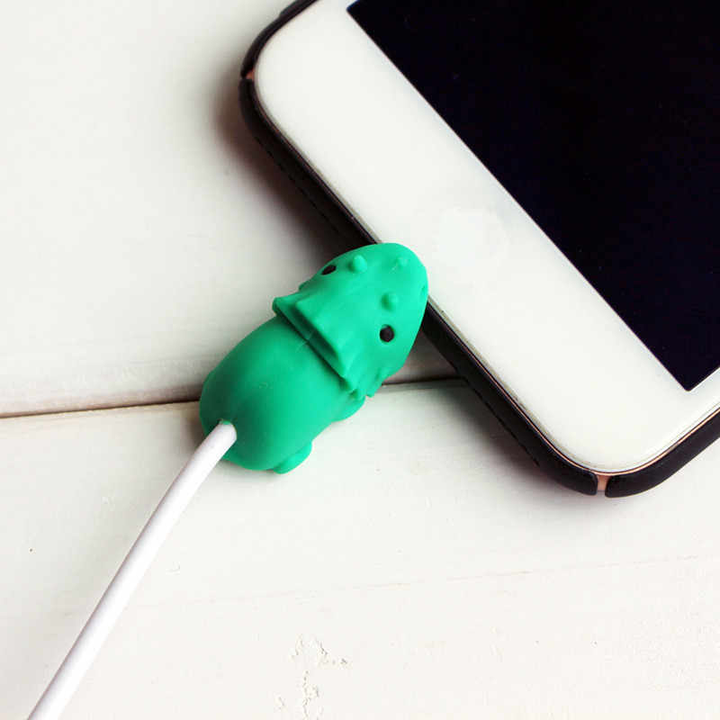 Mini Silicone Wire Cover For Iphone Charger Cable Cute Animal Cable Protector Cartoon Cord Wire Protection Charging Cable Winder