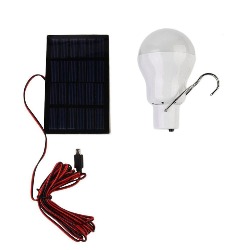 Portable 130LM Solar Power LED Bulb Waterproof LED Solar panel Patio Light Camping Lantern Outdoor Camp Lamp Spotlight Lighting