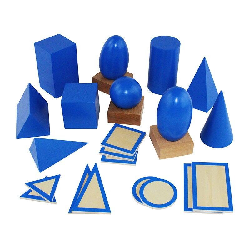 Montessori formes enfants jouets préscolaire matériel d'enseignement formes géométriques groupe avec boîte - 3