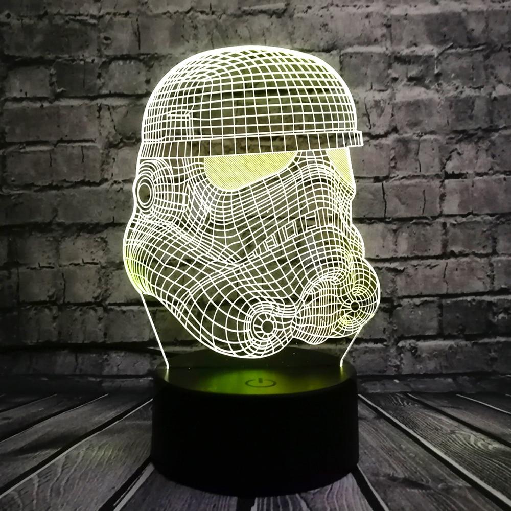 3D Gecə Yüngül RC Ulduz Döyüşləri Clone qüvvəsi Dart Ağ - Gecə işığı - Fotoqrafiya 2