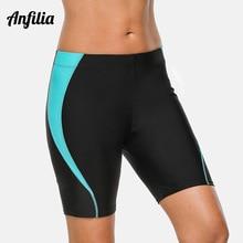 Swim-Shorts Capris Tankini-Bottom Anfilia Women Briefs Boy Patchwork Skinny
