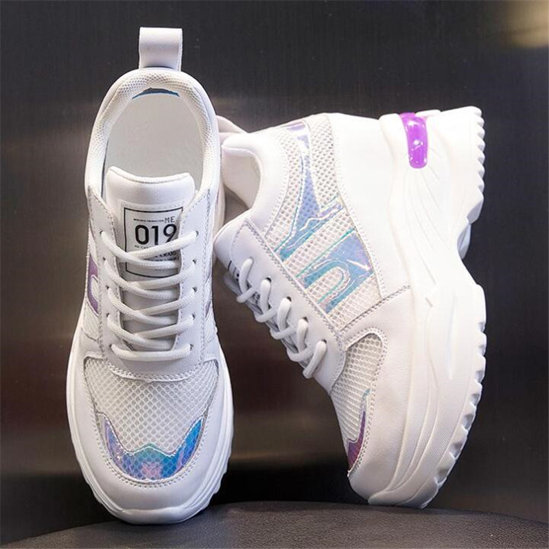 NEW style increase women sneakers shoes mesh breathable slimming wild platform womens Zapatillas de deporte
