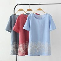 Plus Size 4XL Hollow Out Embroidered Women T Shirt 2017 Fashion Summer T Shirt Short Sleeve