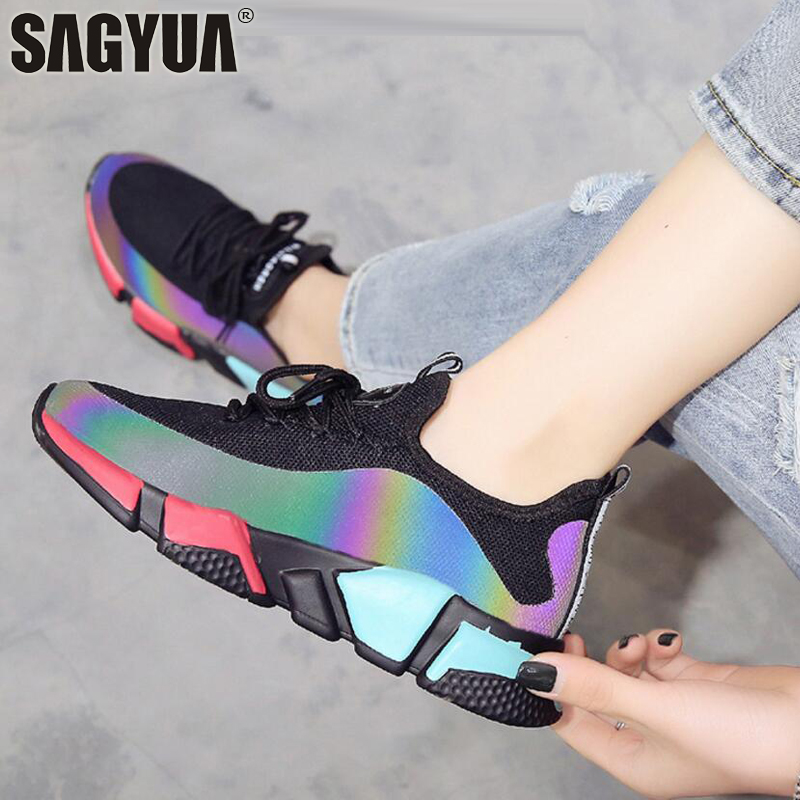 Hot Summer Lady Women Female Casual Fashion Mujer Mesh Air Dazzles Walks Walking Damping Leisure Zapatos Chausssures Shoes T623