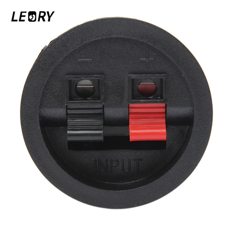 LEORY 2 Pcs Speaker Terminal Board Round 2 Way Spring Clip Binding Post Terminal Cup