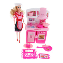 Plastic Kitchen Cabinet with Accessories Role Play Toy for Kids(China)