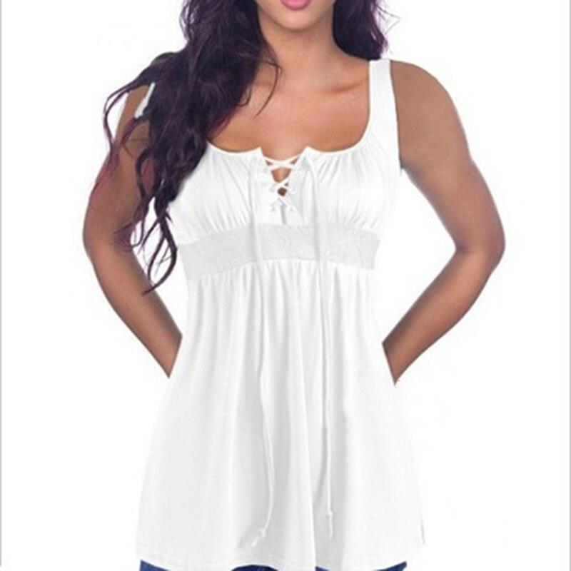b70b209c12392 2018 Summer Sexy Low-cut Basic T-shirts Tank Top Solid Cotton ...