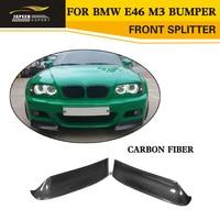 Carbon Fiber Car Front Splitters Aprons For BMW 3 Series E46 M3 Bumper