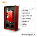 100% Original Rofvape Witcher 75W VTC Box Mod Ni/Ti/SS Mode Removeable 18650 Vape Mod 5.5ML 6 Language Manual Ecig Kit Jomo-201