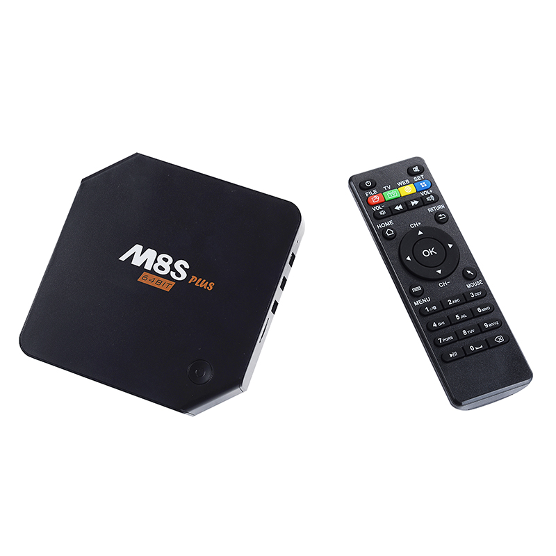 New Arrival M8S Plus Android 5.1 TV Box Amlogic S905 Quad Core 2GB/16GB 2.4G&5G Wifi Gigabit Lan H.265 HEVC HDMI 2.0 BT 4.0 KODI