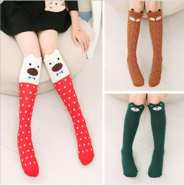 1 pair girls stockings baby kids children winter leg warmers knee high dancing long Tights ballet toddlers
