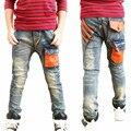 2016 Новый Дети Мальчики Джинсы Брюки Лето Осень Модельер Джинсы Мальчик Джинсовые Брюки Повседневные Корейские Джинсы Для Мальчиков 3 ~ 12yrs