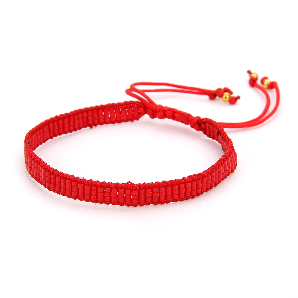Shinus 5Pcs lot MIYUKI Bracelets Women Bracelet Bohemia Rope Chain Charm Bracelets Delica Seed Beads Girl Pulsera Jewelry Gifts in Charm Bracelets from Jewelry Accessories