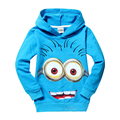Hoodies Kids Boys Clothing Despicable Me 2 Minion Hoodies Kids Baby Sweatshirt Child Hoody Girl Clothe Outerwear Christmas cloth