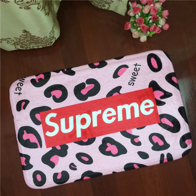 Supreme Letters Camouflage Flannel Carpet