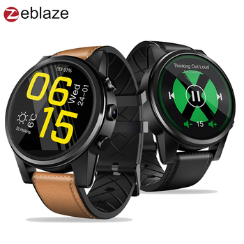 Zeblaze THOR 4 PRO 4G Android Smart Phone GPS Watch Men Hybrid Leather Straps Quad Core 1.6 inch LTPS Crystal Display Smartwatch g6 tactical smartwatch