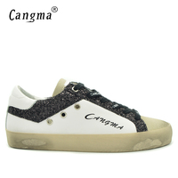 CANGMA Fashion Brand Shoes Men Plus Size Male Leisure Low Shoes White Man Suede Leather Vintage