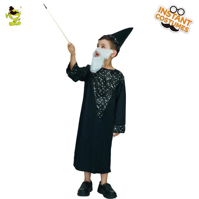 Children Black Wizard Costumes Boys Masquerade Party Popular Novel Character Miraculous Magican Dress-up Outfits  sc 1 st  AliExpress.com & Children Black Wizard Costumes Boys Masquerade Party Popular Novel ...