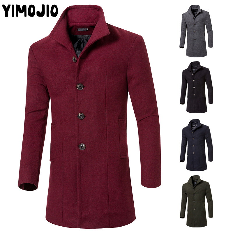 96ec77464b54 Coat Men Casual Long jacket men Trench coat Streetwear Slim Long coat men  Solid Male Windbreaker Trenchcoat in men-in Trench from Men's Clothing