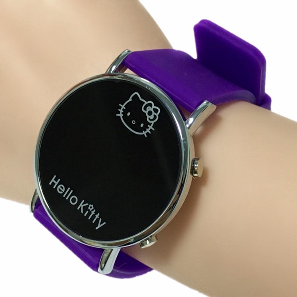 Led Display Hello Kitty Digital Watch for Children Best Gift Kid Girls Wirstwatches Cat Cute Women Watches Drop Shipping