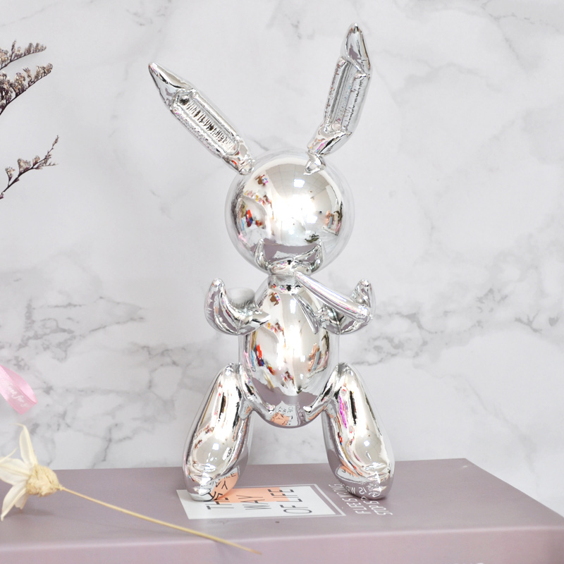 Rabbit Cute Animals Resin Sculpture Wedding Decor Geometry Rabbit Nordic Style Moder Home Decoration Accessories X1629
