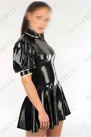 Латексные резиновые платья Gummi цельный комбинезон с широкими юбками на заказ 0,4 мм